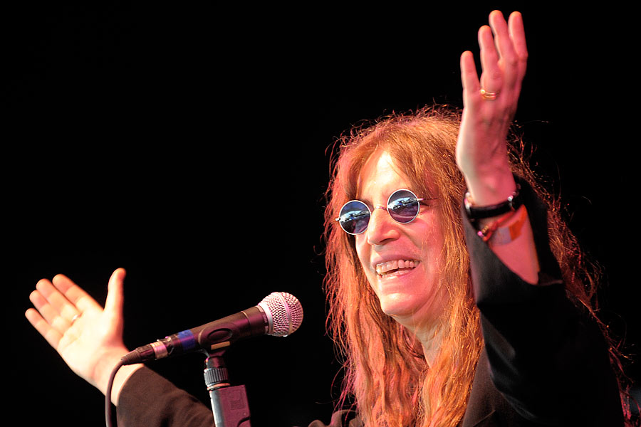 Die Grande Dame des Alternativerock auf der Museumsmeile. – Patti Smith.