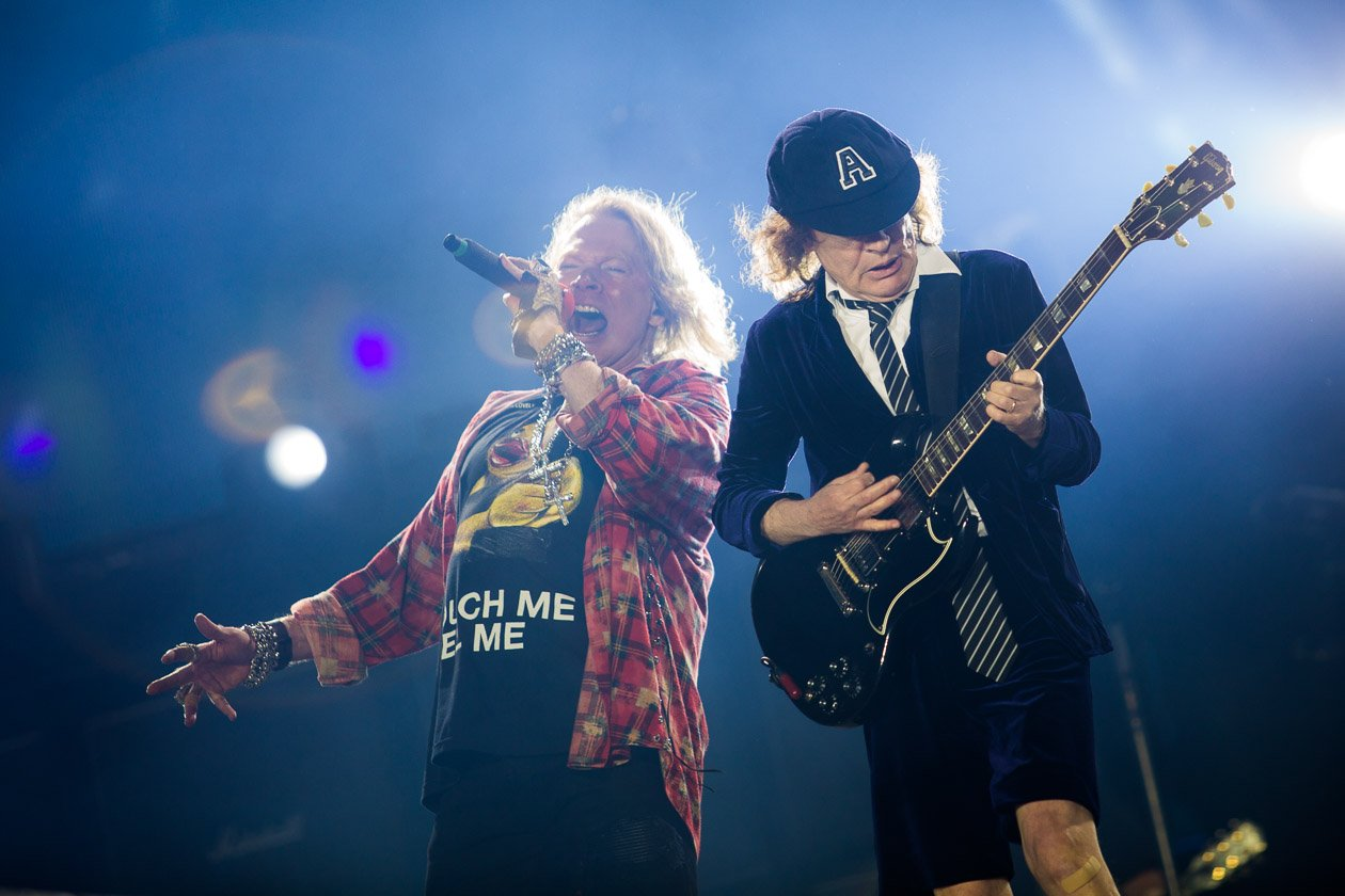 AC/DC – Axl und Angus Young.