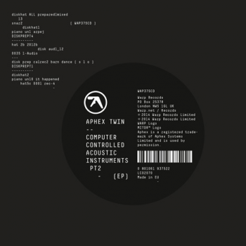 Aphex Twin - Computer Controlled Acoustic Instruments Pt. 2 Artwork