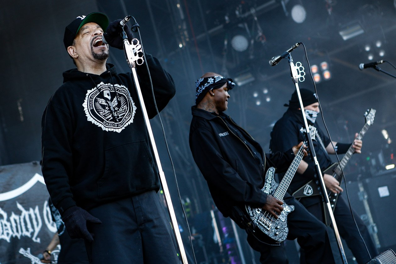 Gern gesehene Gäste am Ring: Ice-Ts Hardcore/Metal-Gang. – Body Count.