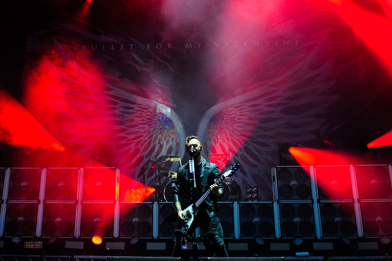 Am Festivalsamstag live am Ring. – Bullet For My Valentine.