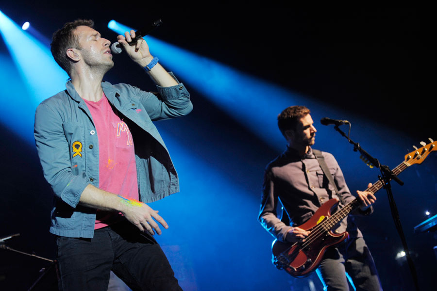 Coldplay – Chris Martin und Guy Berryman