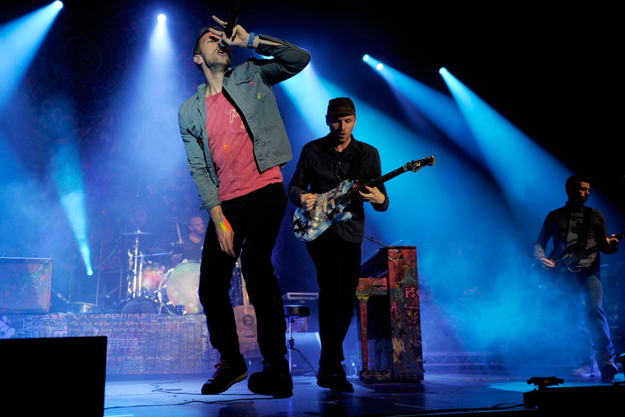 Coldplay – Chris Martin und Jonny Buckland ...