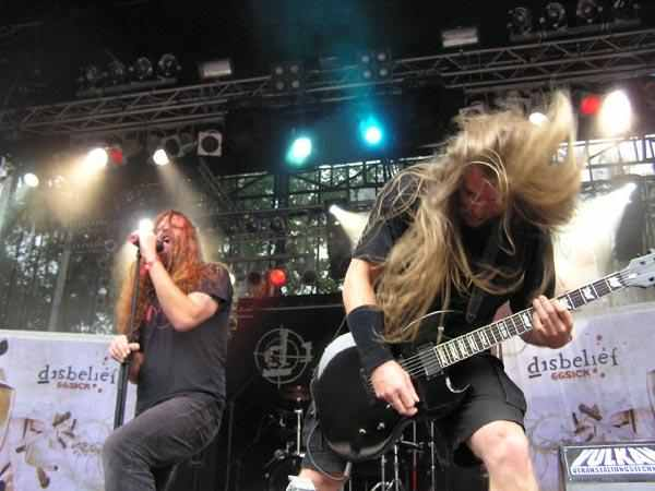 Disbelief – Die nationale Death/Thrash-Speerspitze on stage. –