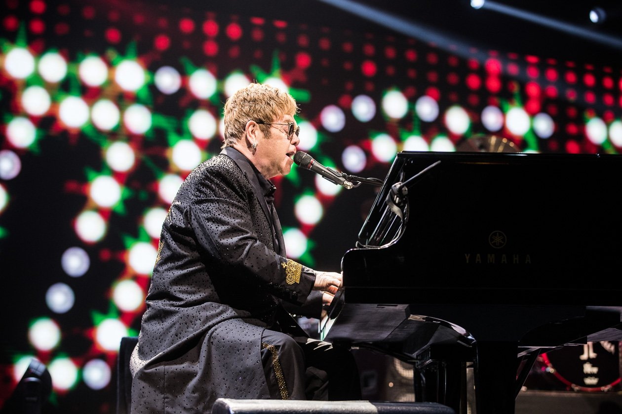 Elton John – Behind the piano.