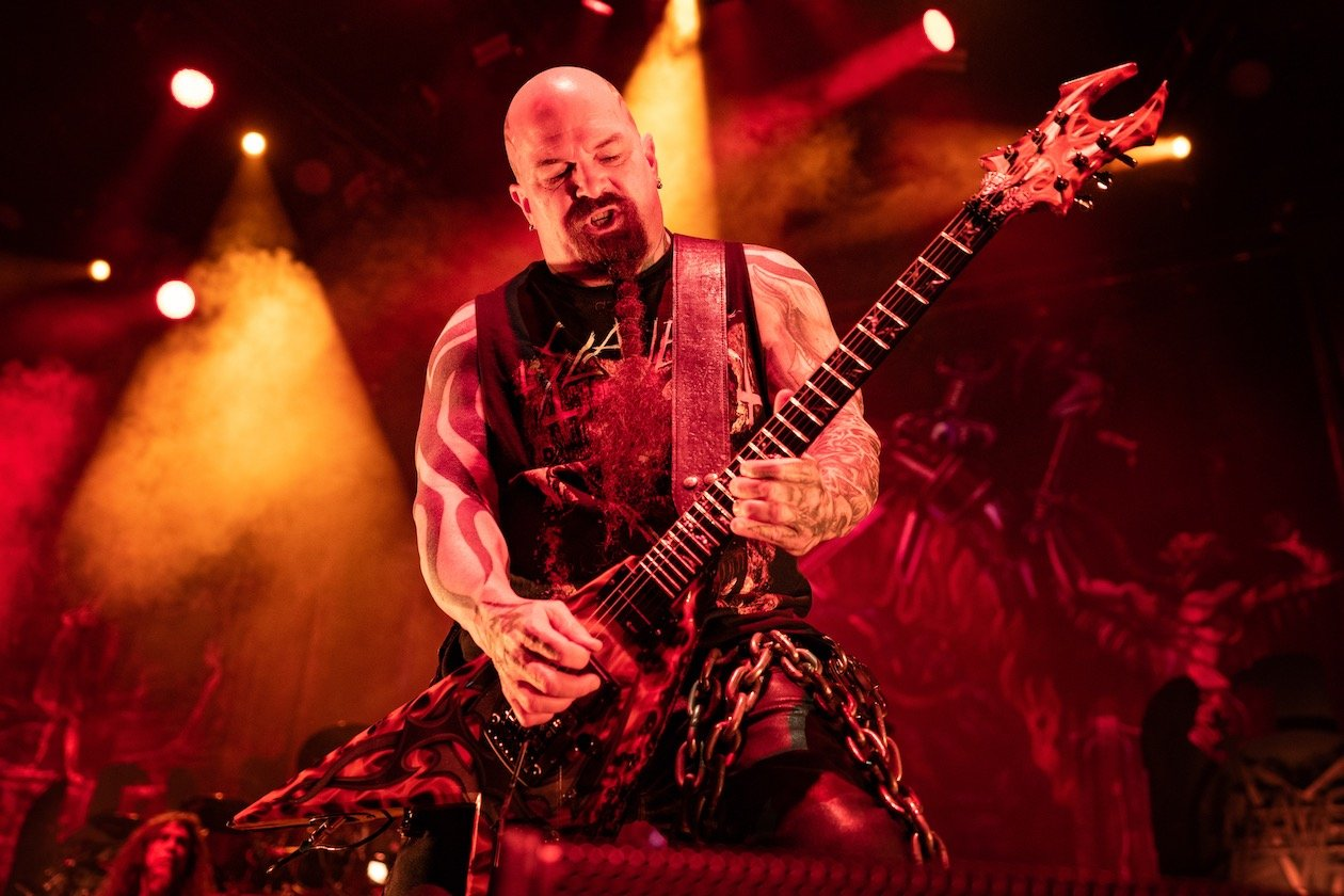 Auf Abschiedstour in Berlin mit Lamb Of God, Anthrax und Obituary. – Kerry King.