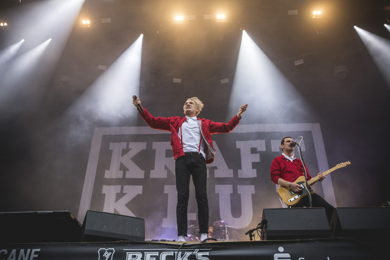 Green Stage-Highlight am Sonntag. – Kraftklub.