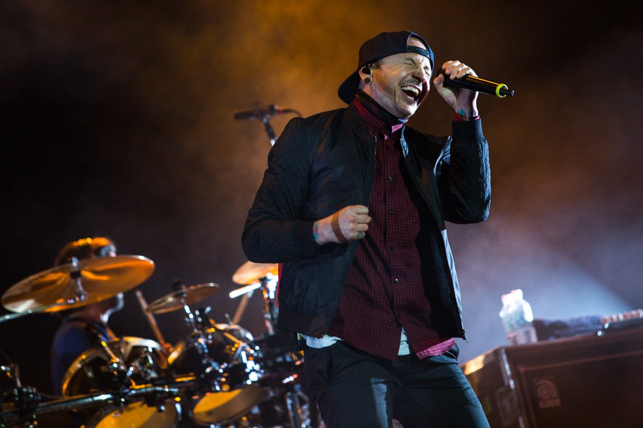 Linkin Park – Headliner am Samstag in Scheeßel. – Chester am Mic.