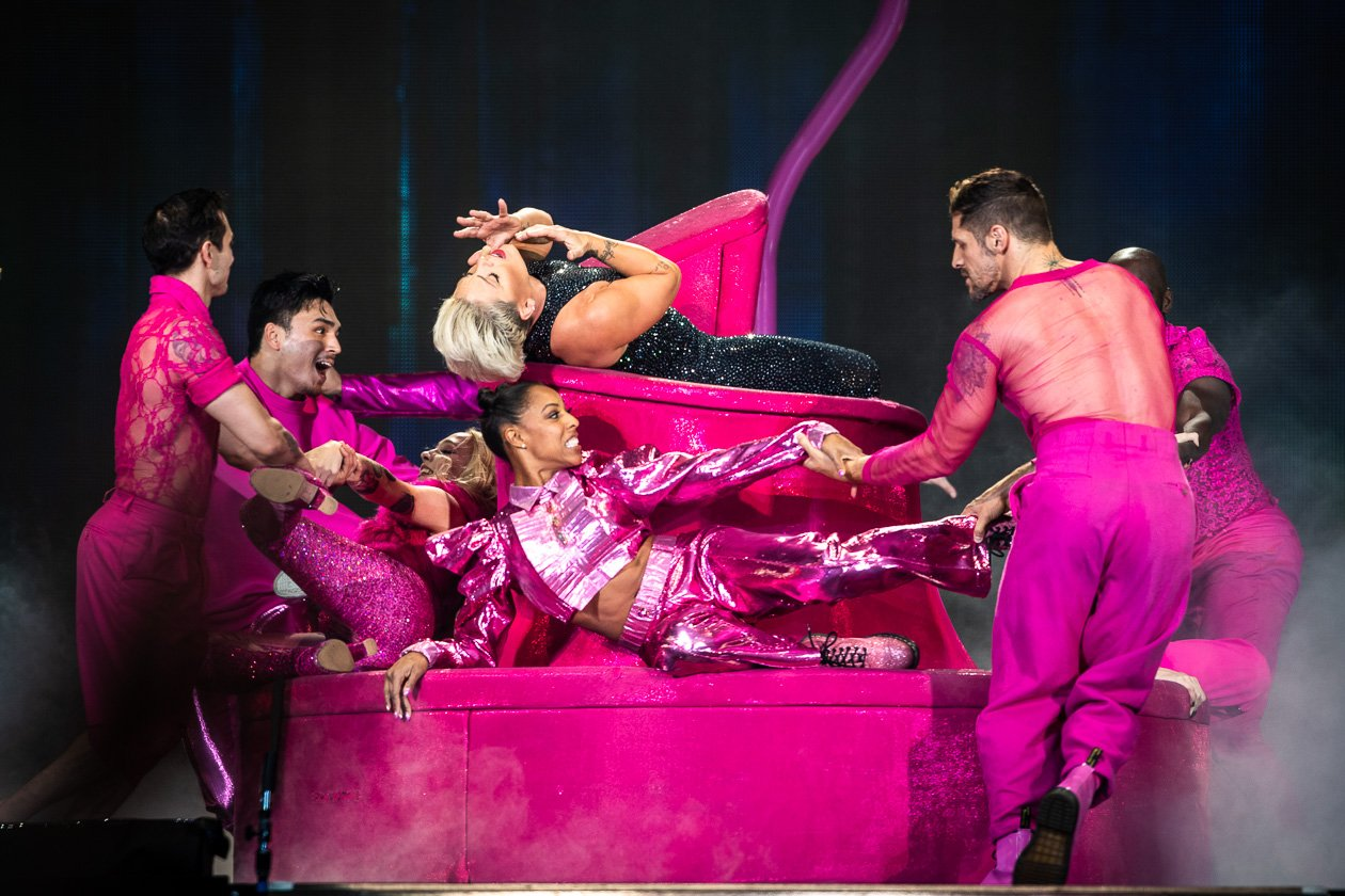 'Get The Party Started' - und 60.000 schauten zu! – Pink.