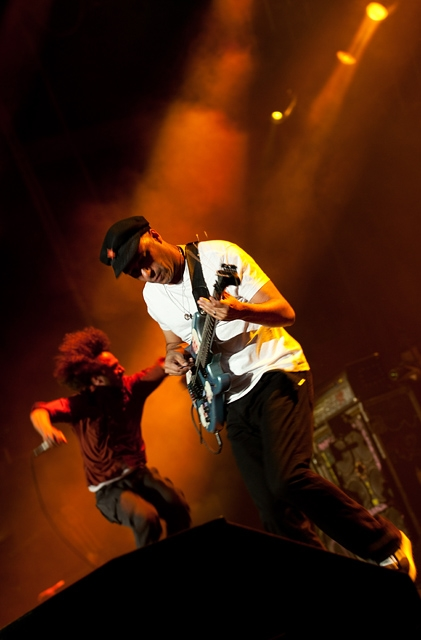 Rage Against The Machine – RATM als Headliner bei Rock Am Ring 2010 – Zack De La Rocha und Tom Morello.