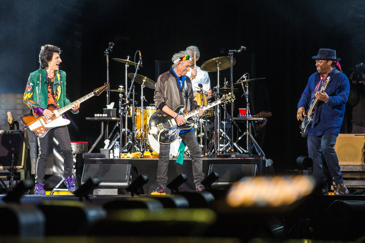 "Rolling Stones – Mick Jagger, Keith Richards, Charlie Watts und Ron Wood zum Auftakt der ""No Filter""-Europatour in Hamburg. – Stones on stage."