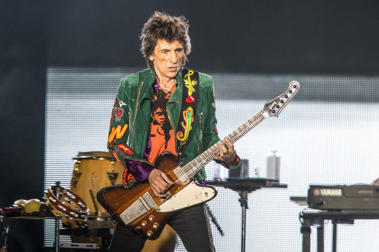 "Rolling Stones – Mick Jagger, Keith Richards, Charlie Watts und Ron Wood zum Auftakt der ""No Filter""-Europatour in Hamburg. – Ronnie Wood."
