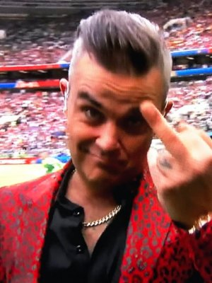 Robbie Williams: Mittelfinger zur WM-Eröffnung